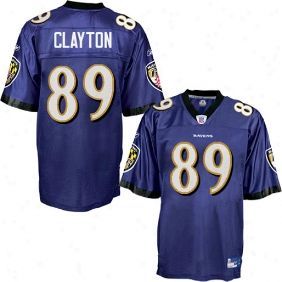 Baltimore Raven Jersey : Reebok Baltimore Raven #89 Mark Clayton Purple Replica Jersey