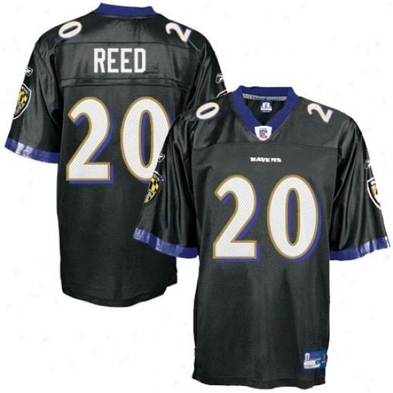 Baltimore Raven Jersey : Reebok Ed Reed Baltimore Raven Youth Replica Jersey - Black