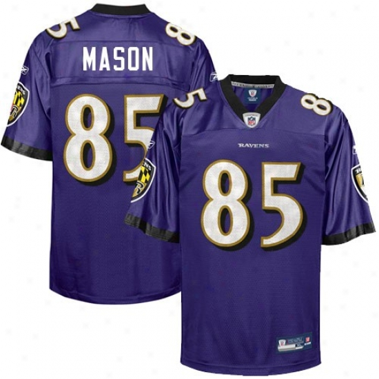 Baltimore Ravej Jersey : Reebok Nfl Equipment Baltimore Raven #85 Derrick Mason Purple Replica Football Jersey