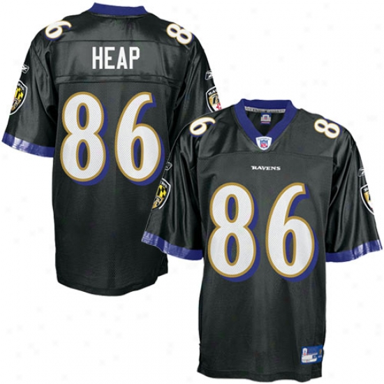 Baltimore Raven Jersey : Reebok Nfl Equipment Baltimore Raven #86 Todd Heap Black Alternate Replica Football Jersey