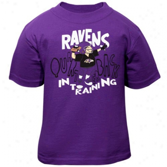 Baltimore Raven Tshirt : Re3bok Baltimore Raven Toddler Purple Quarterback In Training Tshirt