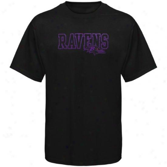 Baltimore Raven Tshirts : Reebok Baltimore Raven Black Fashionn Tshirts