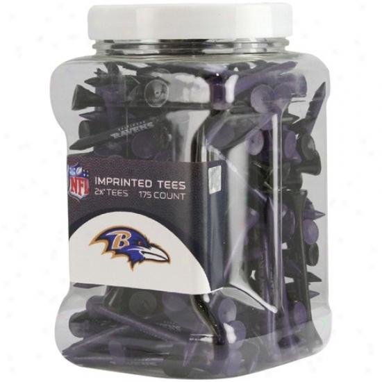 Baltimore Ravens 175-pack Purple-black Imprinted Golf Tees