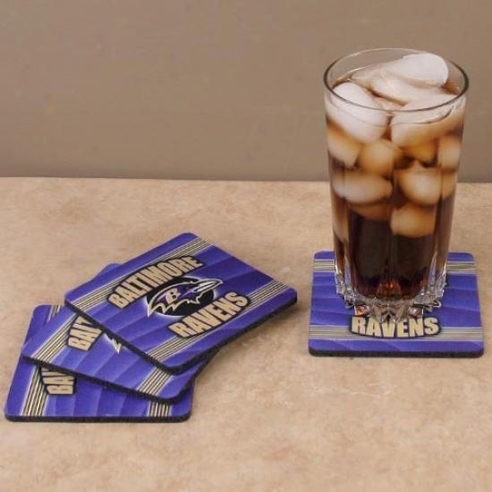 Baltimore Ravens 4-pack End Zone Neoprene Coasters