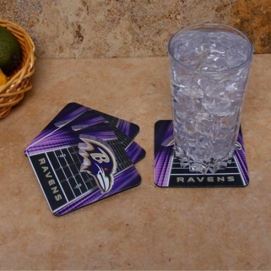 Baltimore Ravens 4-pack Sublimated Logo Neoprene Coaster Set