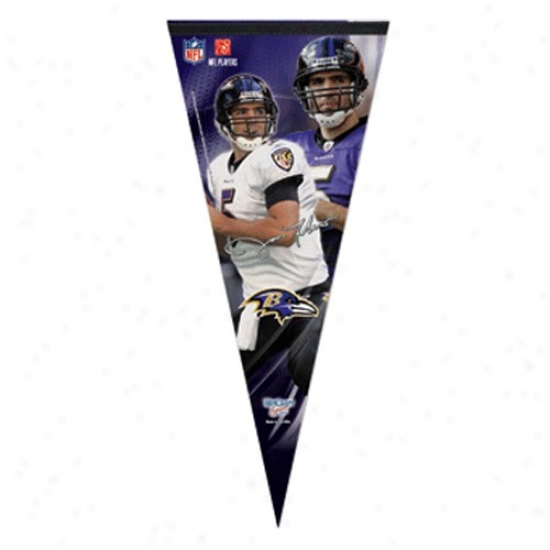 Baltimore Ravens #5 Joe Flacco Purple 17'' X 40'' Player Felt Pennant