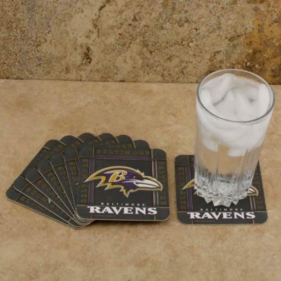 Baltimore Ravens 8-pack Absorbent Paperkrraft Coasters