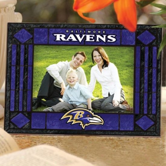 Baltimore Ravens Art-glass Horizontal Picture Frame