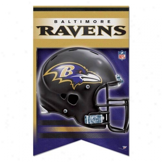 Baltmore Ravens Flag : Baltimore Ravens 17'' X 26'' Premium Quality Felt Banner