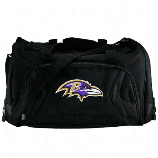 Baltimore Ravens Black Fly-by Duffel Bag