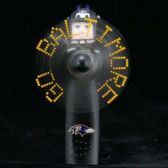 Baltimore Ravens Black Light-up Communication Fan