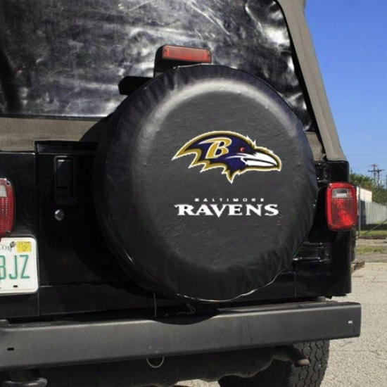 Baltimore Ravens Black Logo Tire Cover
