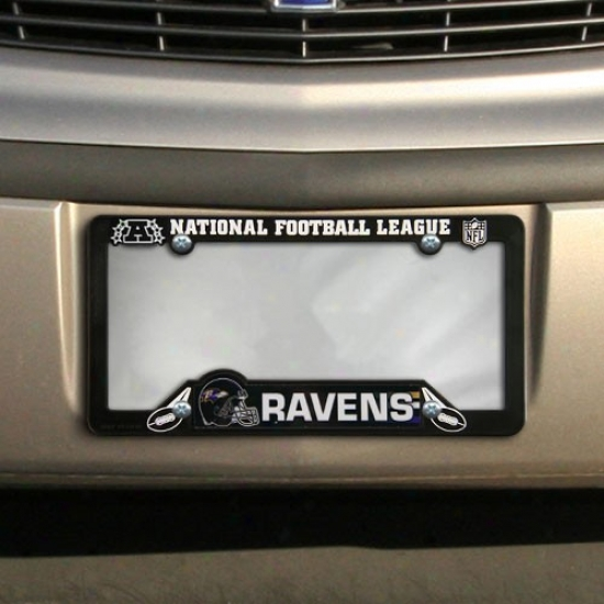 Baltimore Ravens Black Plastic License Plate Frame