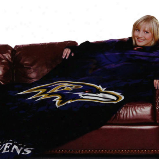 Baltimore Ravens Black Team Logo Print Unisex Comfy Throw