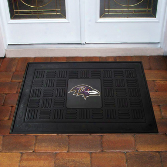 Baltimore Ravens Black Team Logo Rubber Mat