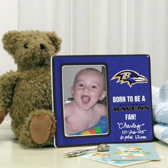 Baltimore Ravens Born To Be Ceramic Picture Frame