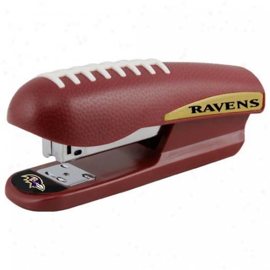 Baltimore Ravens Brown Pro-grip Foptball Stapler
