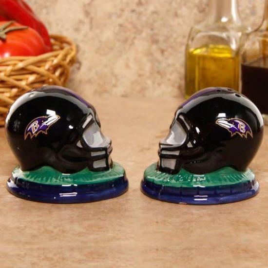 Balltimore Ravens Ceramic Helmet Salt & Pepper Shakers