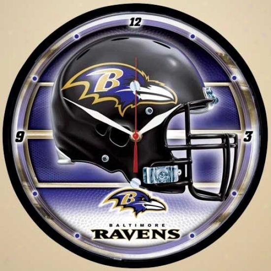 Baltimore Ravens Dimensikn Wall Clock