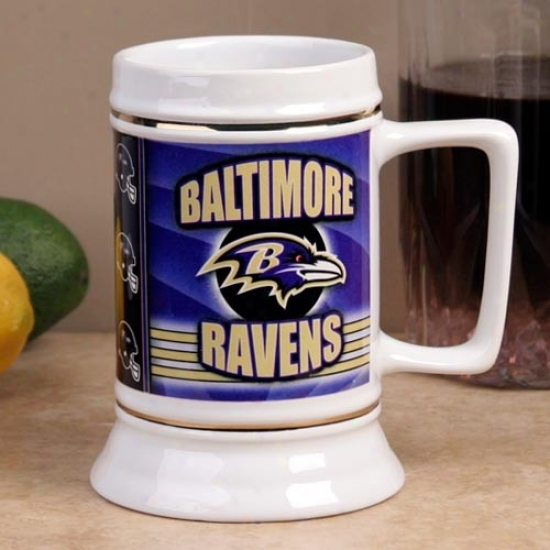 Baltimore Ravens End Zonw 28oz. Ceramic Stein