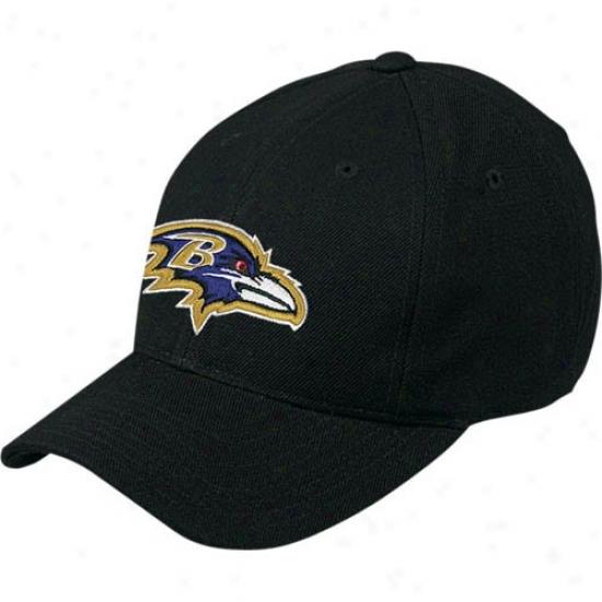 Baltimore Ravens Hat : Reebok Baltimore Ravens Black Basic Logo Wool Blend Hat