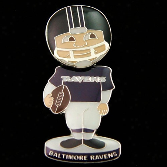 Baltimore Ravens Hats : Baltimore Ravens Bobblr Head Football Mimic Pin