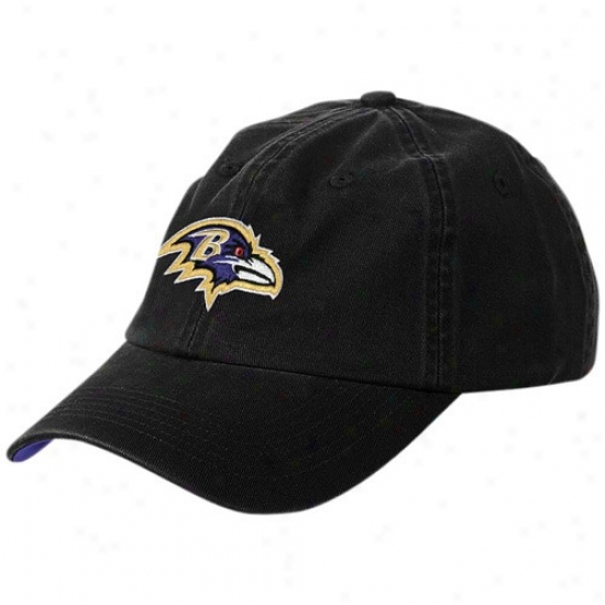 Baltimore Ravens Hats : Reebok Baltimorre Ravens Black Youth Basic Logo Slouch Hats