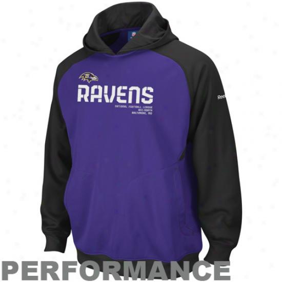 Baltimore Ravens Hoodie : Reebok Baltimore Ravens Purple Sideline Performance Pullover Hoodie