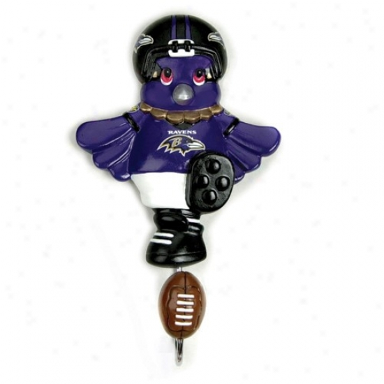 Baltimore Ravens Mascot Wall Hook