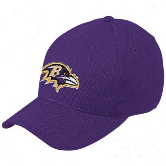 Baltimore Ravens Merchandise: Reebok Baltimore Ravens Purple Basic Logo Wool Mingle Cardinal's office