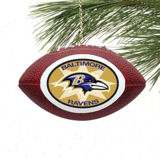 Baltimore Ravens Mini Football Ornament