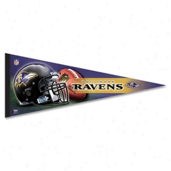 Baltimore Ravens Purple 12'' X 30'' Premium Felt Pennant