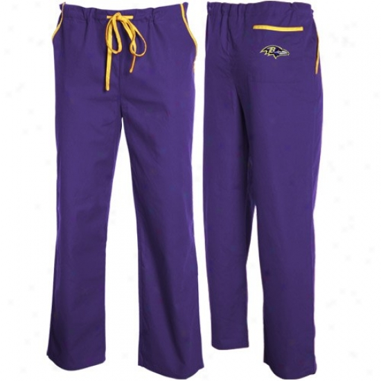 Baltimore Ravens Purple Basic Unisex Grave Scrub Pants