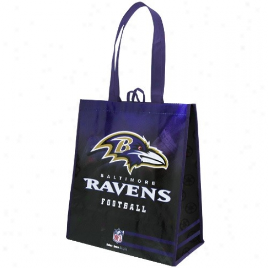 Baltimore Ravens Purple-black Fade Reusable Tote Bag