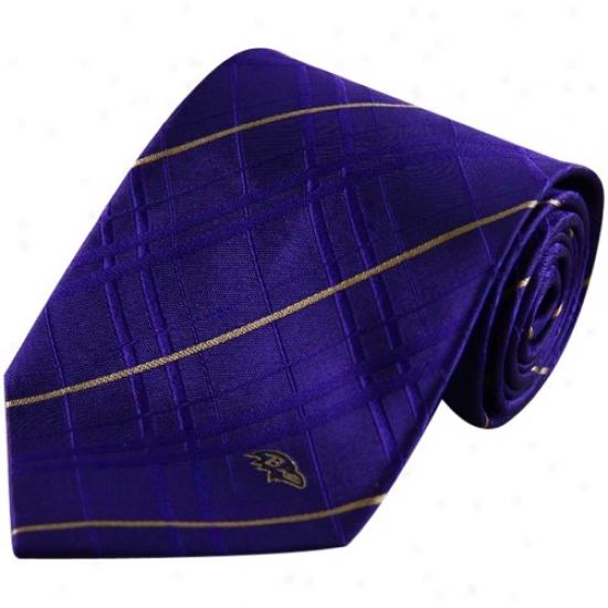 Baltimore Ravens Purple Oxford Woven Tie