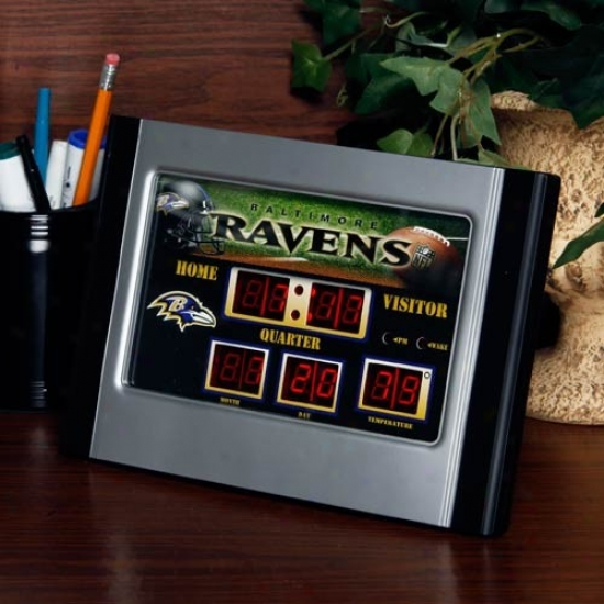 Baltimore Ravwns Scoreboard Desk Clock