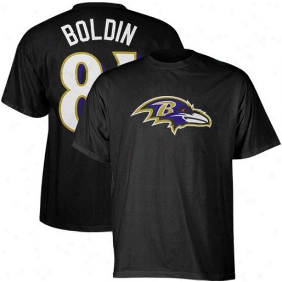 Baltimore Ravens Shirt : Reebok Baltimore Ravens #81 Anquan Boldin Black Scrimmage Gear Shrt
