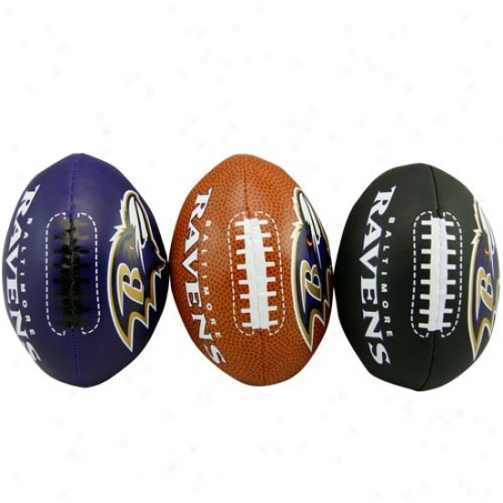 Baltimore Ravens Sooftee 3 Football Set