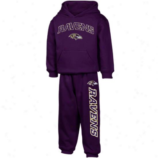 Baltimore Ravens Sweatshirts : Reebok Baltimore Ravens Toddler Purple Pullover Sweatshirts And Sweatpants Set