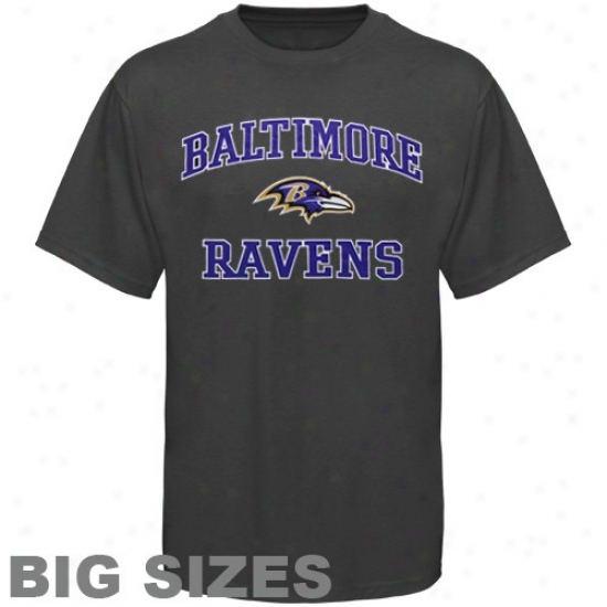 Baltimore Ravens Tees : Baltimore Ravens Charcoal Heart And Soul Full Sizes Tees