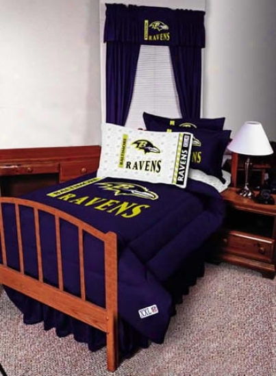 Baltimore Ravens Twin Size Bed Skirt