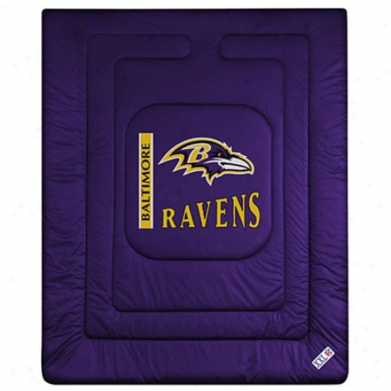 Baltimore Ravens Twin Size Locker Room Comforter