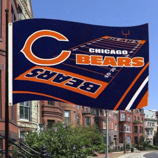 Bears Banner : Bears 3' X 5' Field Banner