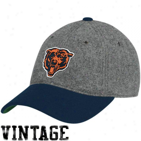 Bears Caps : Mitchell & Ness Bears Gray Melton Wool Flex Caps