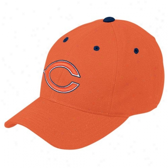 Bears Caps : Reebok Bears Orange Basic Logo Adjutsable Caps