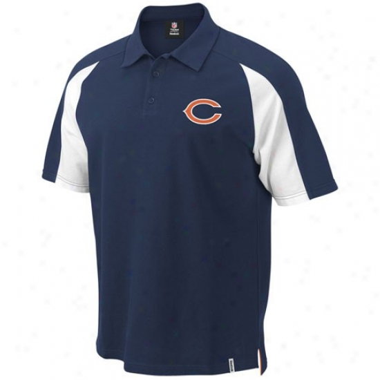 Bears Clothes: Reebok Bears Navy Blue Stealthiness Piqu Polo