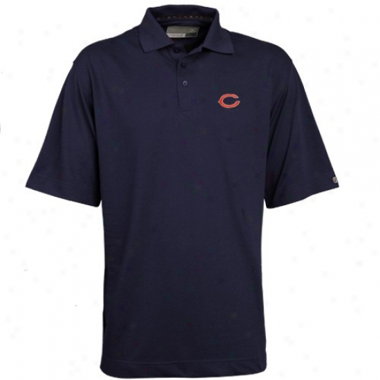 Bears Clothing: Cutter & Buck Bears Navy Livid Drytec Championship Polo