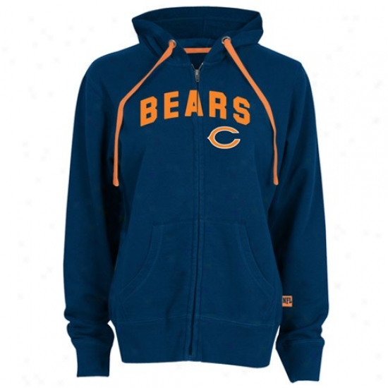 Bears Fleece : Bears Ladies Navy Azure Pure Heritage Full Zip Fleece