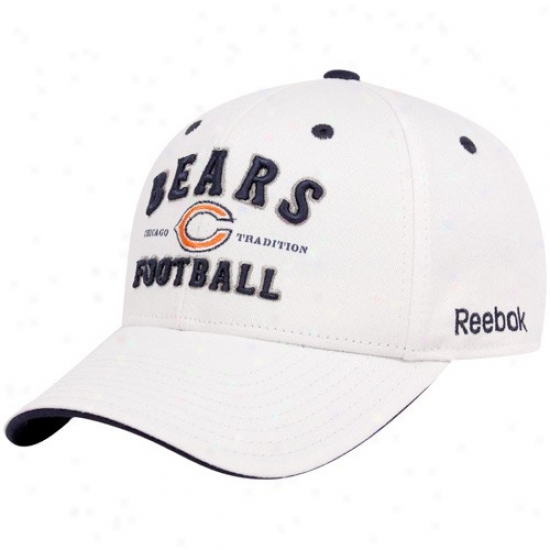 Bears Gear: Reebok Beafs White Tradition Adjustable Cardinal's office