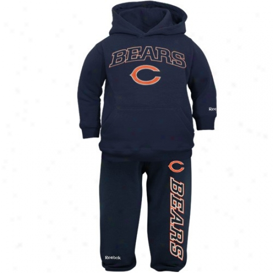 Bears Hoodies : Reebok Bears Toddler Navy Blue Pullover Hoodies And Sweatpants Set